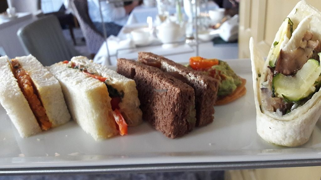 """Photo of The Tea Room at The Midland Hotel  by <a href=""""/members/profile/Veganolive1"""">Veganolive1</a> <br/>Vegan sandwiches <br/> April 28, 2017  - <a href='/contact/abuse/image/91257/253457'>Report</a>"""