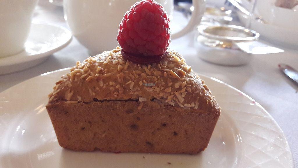 """Photo of The Tea Room at The Midland Hotel  by <a href=""""/members/profile/Veganolive1"""">Veganolive1</a> <br/>Banana & coconut cake <br/> April 28, 2017  - <a href='/contact/abuse/image/91257/253460'>Report</a>"""