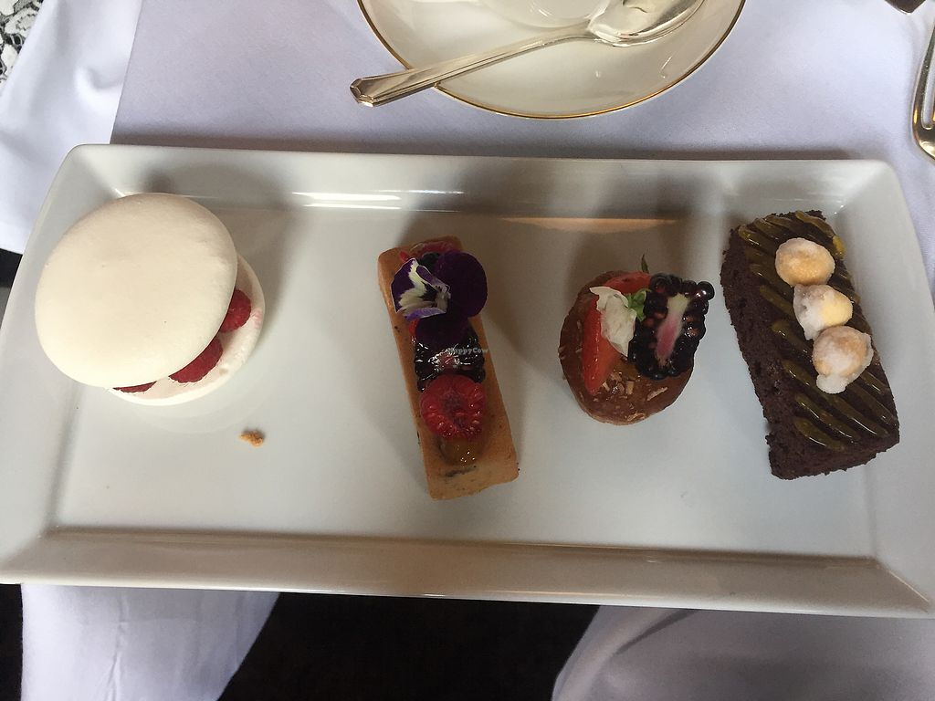 """Photo of The Tea Room at The Midland Hotel  by <a href=""""/members/profile/RobynWhalley"""">RobynWhalley</a> <br/>Vegan cakes  <br/> October 22, 2017  - <a href='/contact/abuse/image/91257/317591'>Report</a>"""