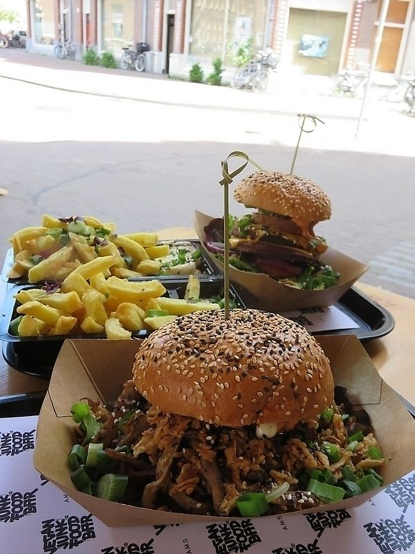 "Photo of Vegan Junk Food Bar - Staringplein  by <a href=""/members/profile/TrudiBruges"">TrudiBruges</a> <br/>Double burger! Vegan Junkfood Bar, Amsterdam  <br/> November 19, 2017  - <a href='/contact/abuse/image/91275/326963'>Report</a>"
