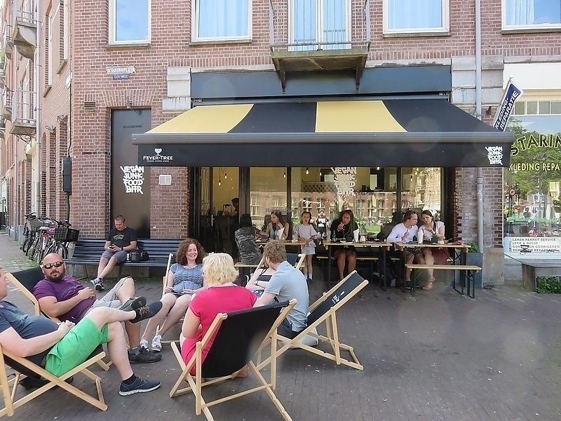 "Photo of Vegan Junk Food Bar - Staringplein  by <a href=""/members/profile/TrudiBruges"">TrudiBruges</a> <br/>terrace in front of Vegan Junkfood Bar, Amsterdam <br/> November 19, 2017  - <a href='/contact/abuse/image/91275/326964'>Report</a>"