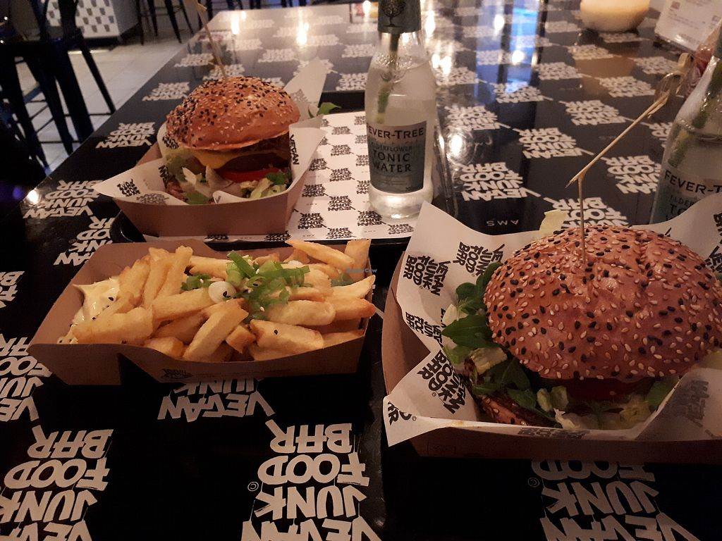 "Photo of Vegan Junk Food Bar - Staringplein  by <a href=""/members/profile/Tea_and_Sparkles"">Tea_and_Sparkles</a> <br/>Best burgers and fries ever <br/> January 2, 2018  - <a href='/contact/abuse/image/91275/342148'>Report</a>"