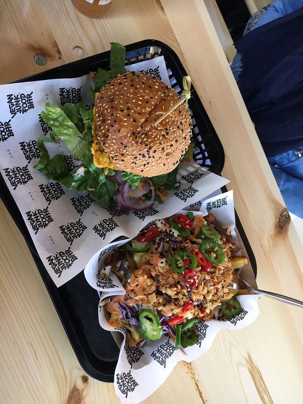 "Photo of Vegan Junk Food Bar - Staringplein  by <a href=""/members/profile/acforbes"">acforbes</a> <br/>Amazing burger and loaded fries that didn't last long! <br/> April 21, 2018  - <a href='/contact/abuse/image/91275/389061'>Report</a>"