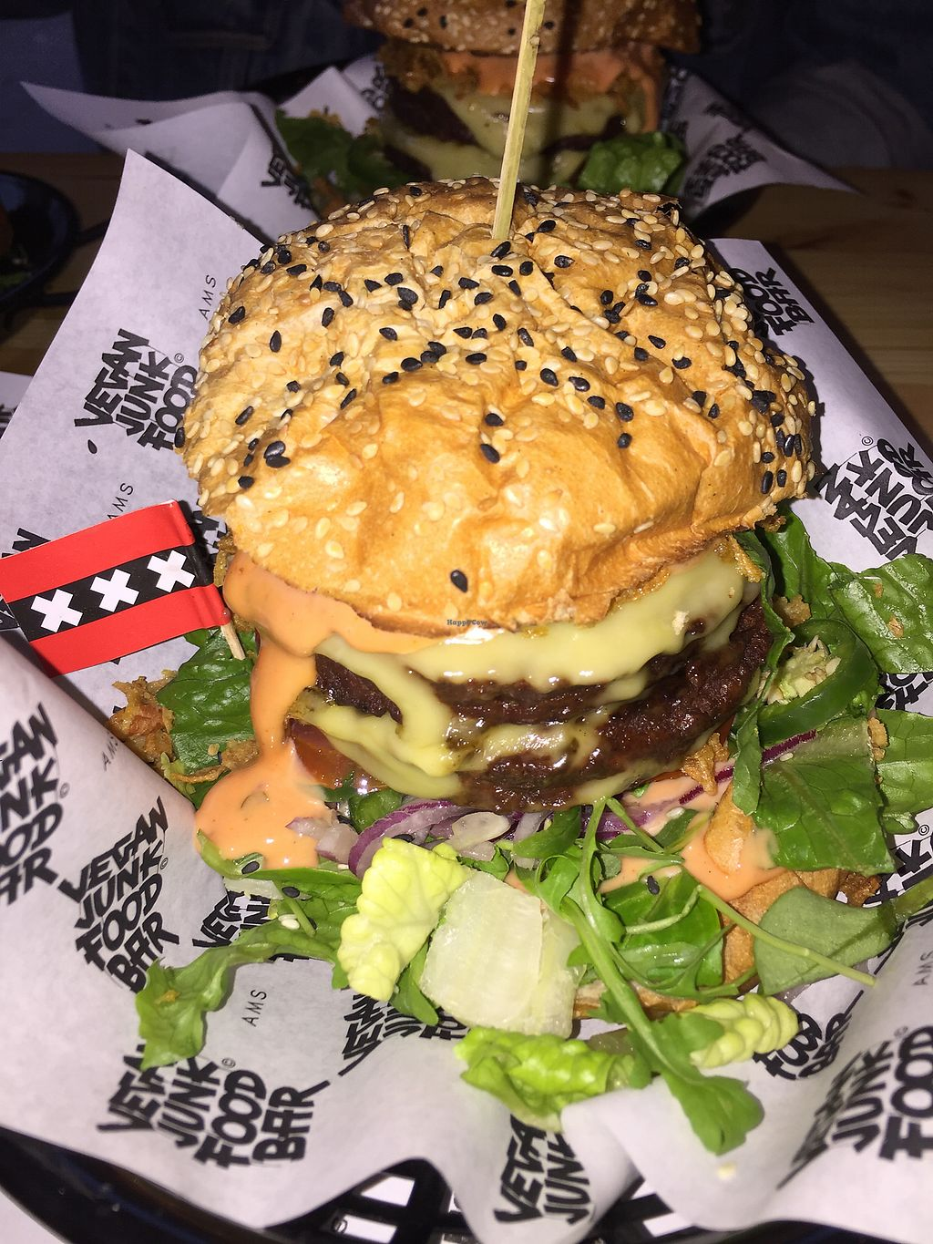 "Photo of Vegan Junk Food Bar - Staringplein  by <a href=""/members/profile/bfitz"">bfitz</a> <br/>The Best Burger! <br/> May 16, 2018  - <a href='/contact/abuse/image/91275/400564'>Report</a>"