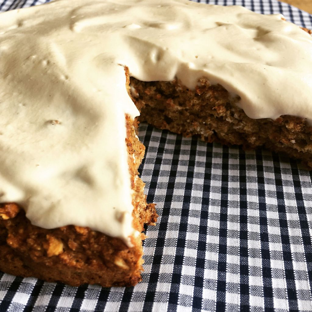 "Photo of The Organic Bee Cafe  by <a href=""/members/profile/BiancaPerry"">BiancaPerry</a> <br/>vegan banana bread with cashew cream topping :) <br/> May 19, 2017  - <a href='/contact/abuse/image/91300/260309'>Report</a>"