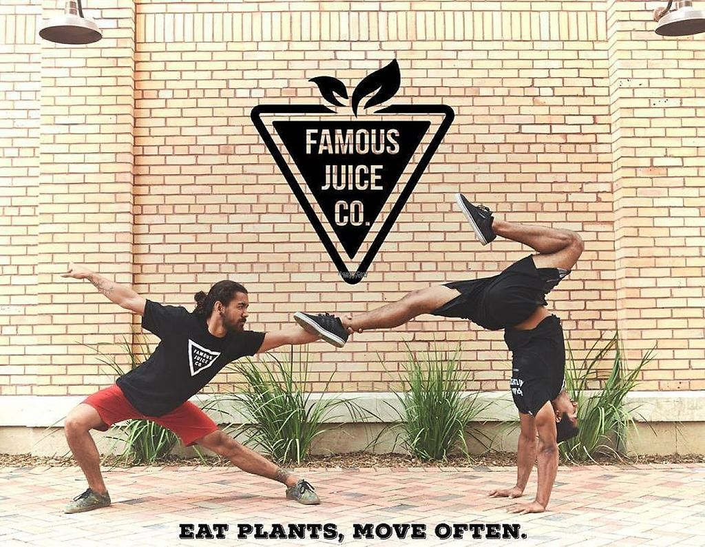 """Photo of Famous Juice Company  by <a href=""""/members/profile/FamousAmos"""">FamousAmos</a> <br/>Eat Plants, Move Often  <br/> April 29, 2017  - <a href='/contact/abuse/image/91318/253752'>Report</a>"""