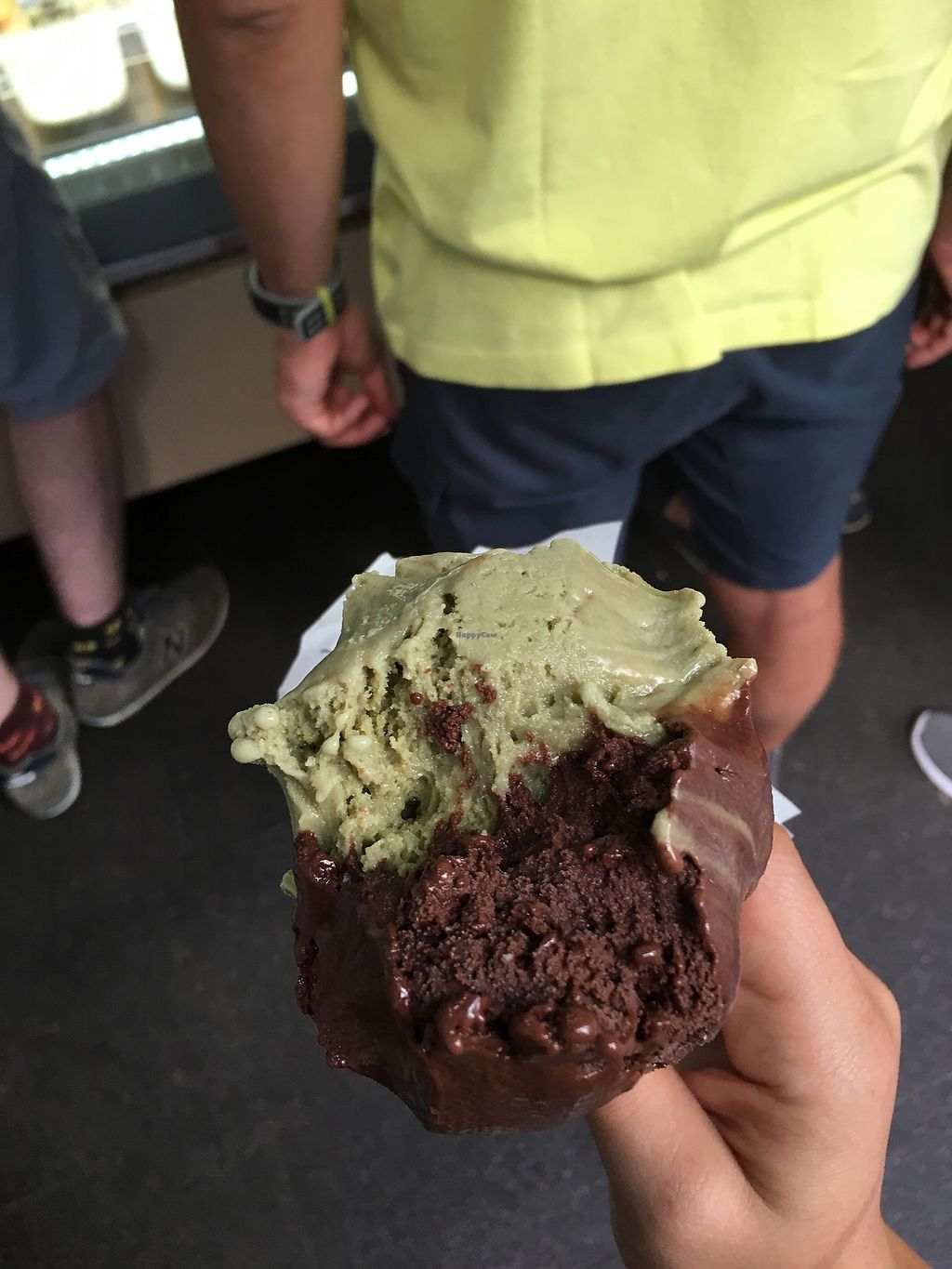 "Photo of CLOSED: Officina Gelati  by <a href=""/members/profile/MillieRose"">MillieRose</a> <br/>chocolate and pistachio  <br/> September 4, 2017  - <a href='/contact/abuse/image/91328/300874'>Report</a>"
