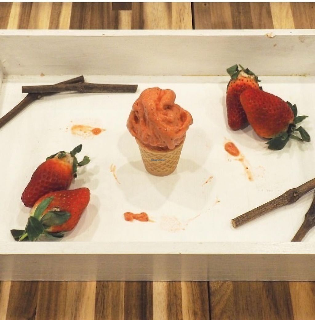 "Photo of Unico Gelato & Caffe  by <a href=""/members/profile/elenamanfroni"">elenamanfroni</a> <br/>Strawberry ice-cream: made fresh daily in the shop with fresh strawberry !  <br/> May 1, 2017  - <a href='/contact/abuse/image/91366/254460'>Report</a>"