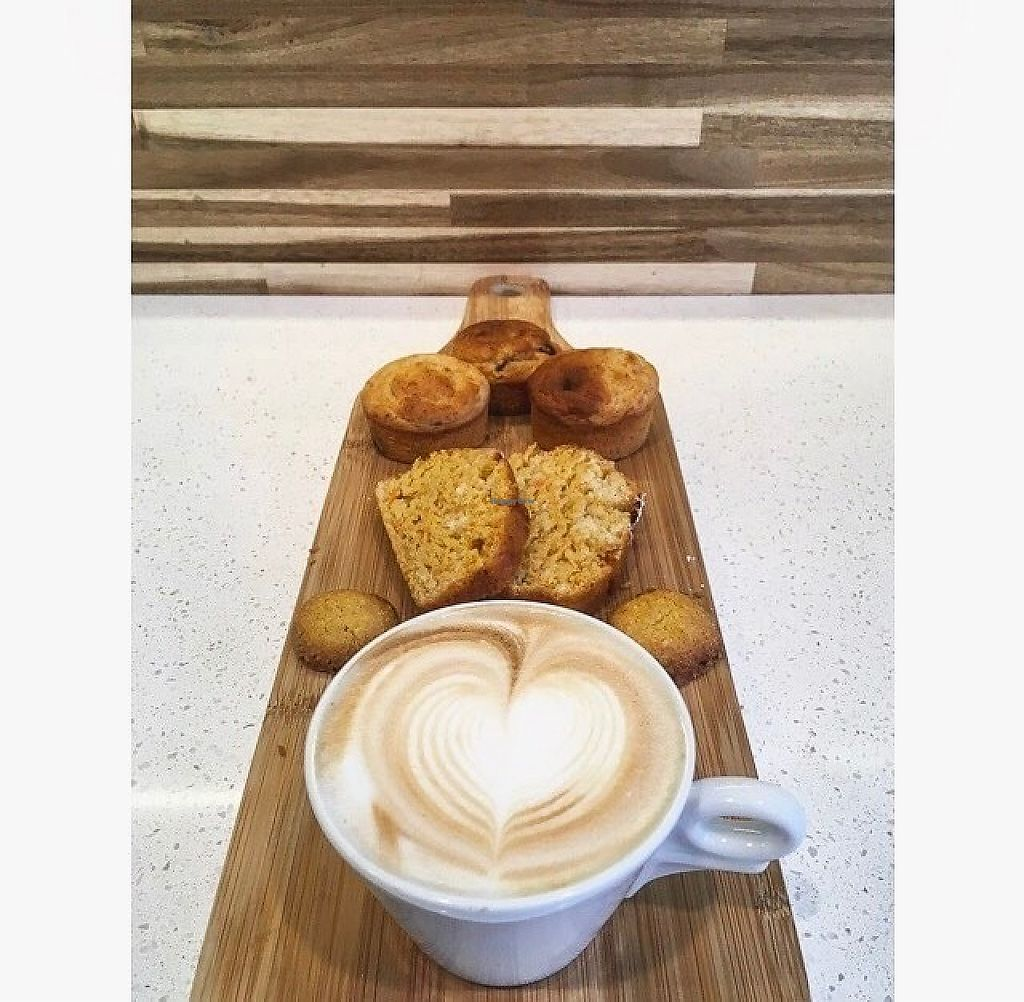 "Photo of Unico Gelato & Caffe  by <a href=""/members/profile/elenamanfroni"">elenamanfroni</a> <br/>Vegan breakfast : soya cappuccino with carrot cake and muffins .