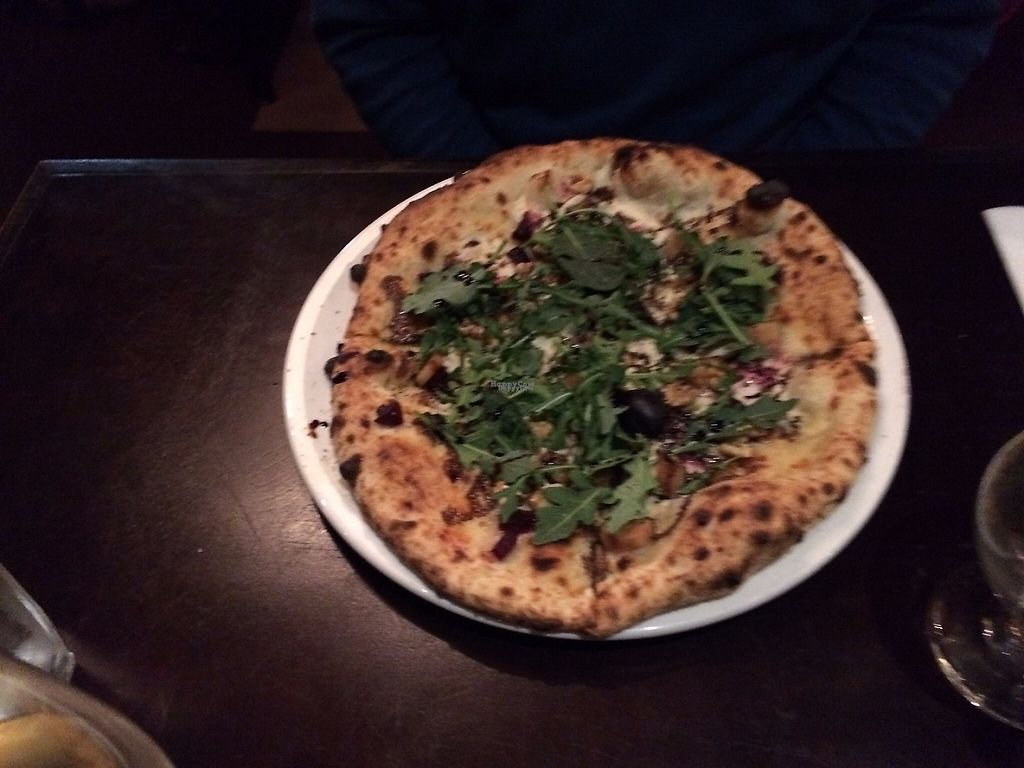 "Photo of EVOO in the Courtyard  by <a href=""/members/profile/marturey"">marturey</a> <br/>The balsamic pizza - Pear, beets, walnuts, arugula, cashew cheese <br/> April 30, 2017  - <a href='/contact/abuse/image/91376/254405'>Report</a>"