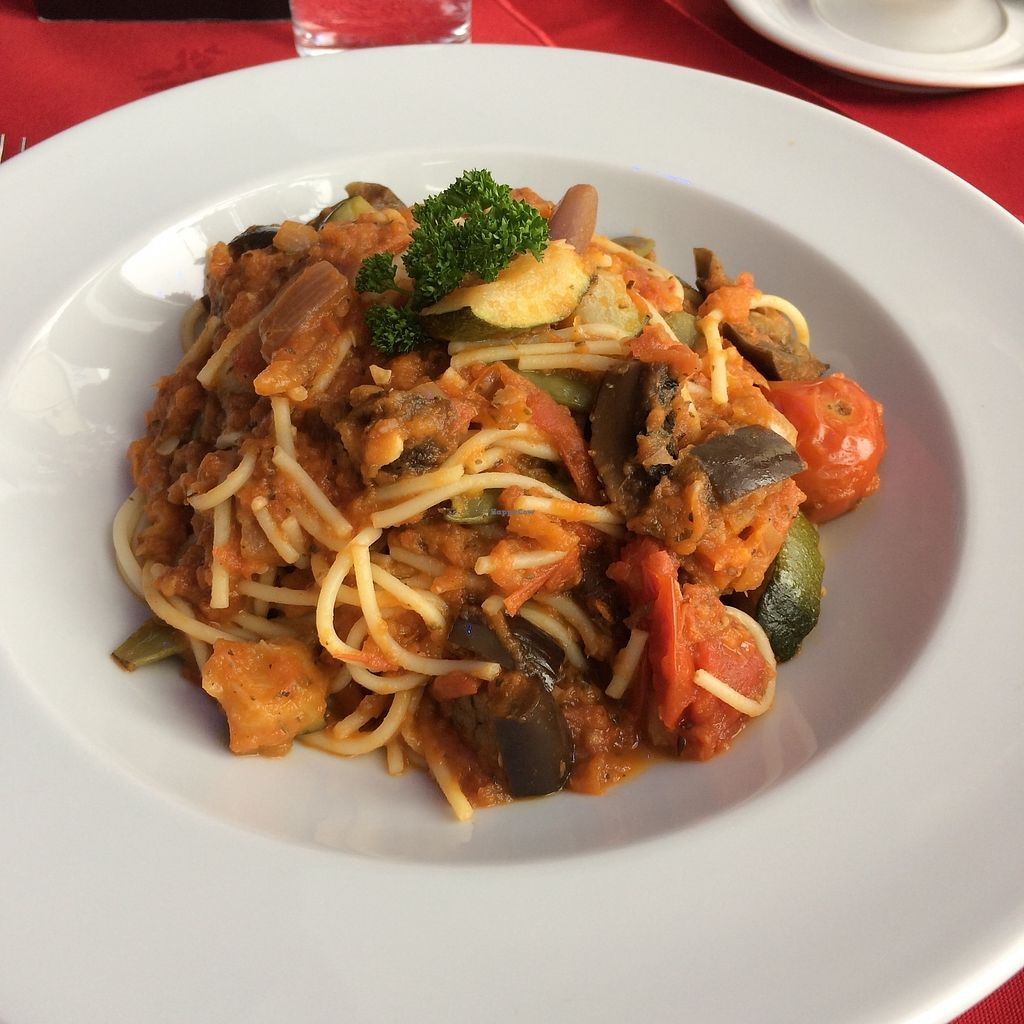 """Photo of Faringo's  by <a href=""""/members/profile/Hoggy"""">Hoggy</a> <br/>'Vegetariano Faringo' vegetable spaghetti dish <br/> July 23, 2017  - <a href='/contact/abuse/image/91400/283752'>Report</a>"""