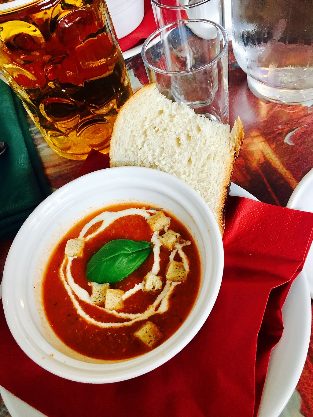 Photo of Faringo's  by HollyGraceWard <br/>Tomato soup starter for Sunday lunch  <br/> August 10, 2017  - <a href='/contact/abuse/image/91400/291048'>Report</a>