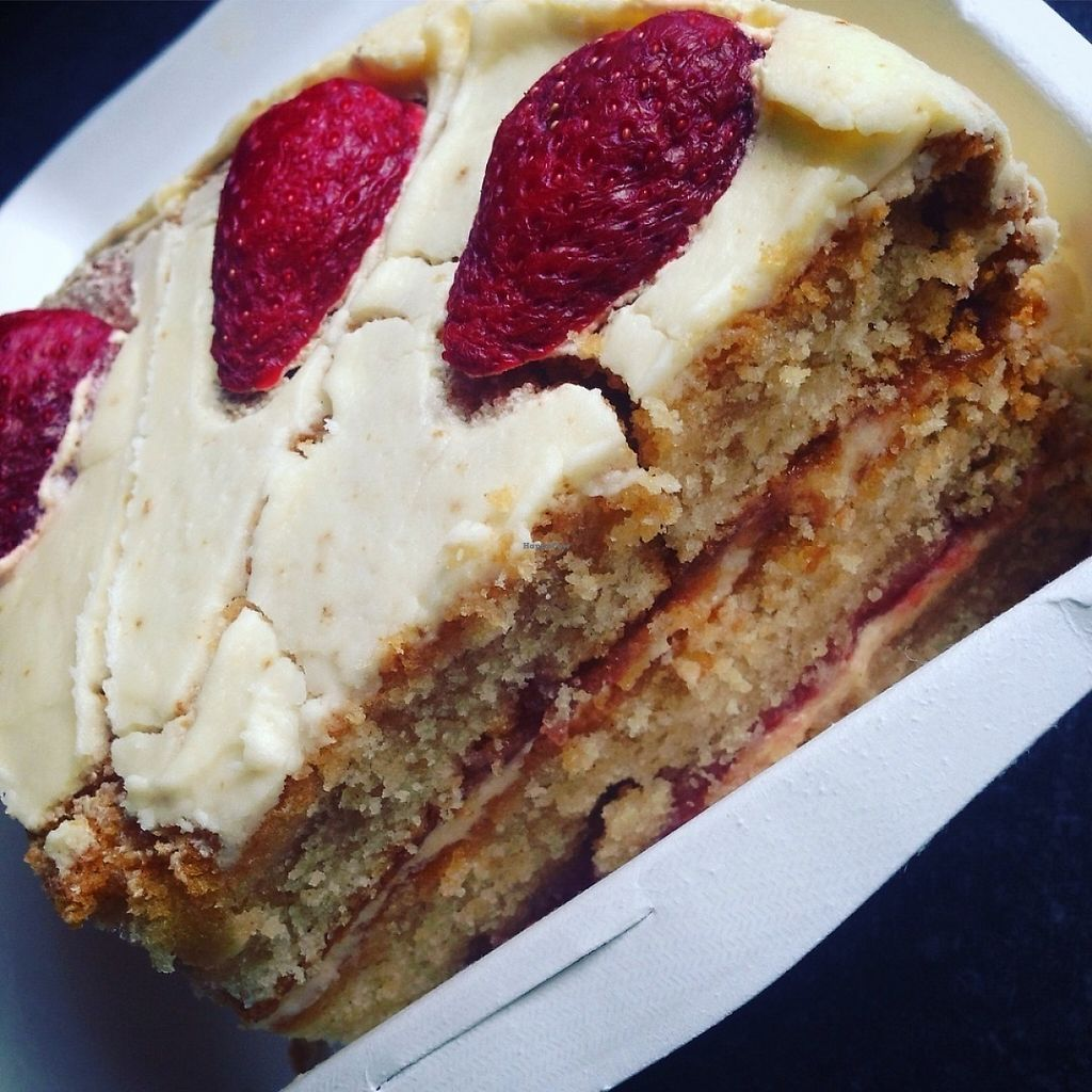 """Photo of The Rootsy Mill  by <a href=""""/members/profile/BROTATO"""">BROTATO</a> <br/>Vegan strawberry and lemon caaaake! <br/> May 1, 2017  - <a href='/contact/abuse/image/91419/254467'>Report</a>"""