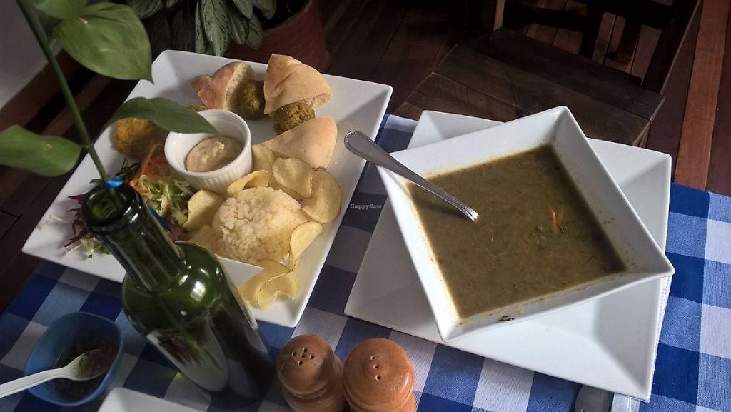 "Photo of L'Jaim - Arab Restaurant  by <a href=""/members/profile/rejimenezg"">rejimenezg</a> <br/>Falafel meal [""especial vegano"" in the menu] 10.800 COP <br/> May 3, 2017  - <a href='/contact/abuse/image/91442/255121'>Report</a>"