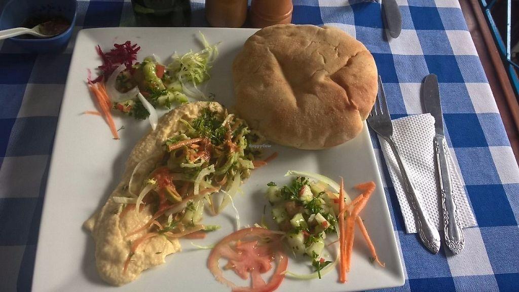 "Photo of L'Jaim - Arab Restaurant  by <a href=""/members/profile/rejimenezg"">rejimenezg</a> <br/>Pita + hummus meal 10.800 COP <br/> May 3, 2017  - <a href='/contact/abuse/image/91442/255250'>Report</a>"