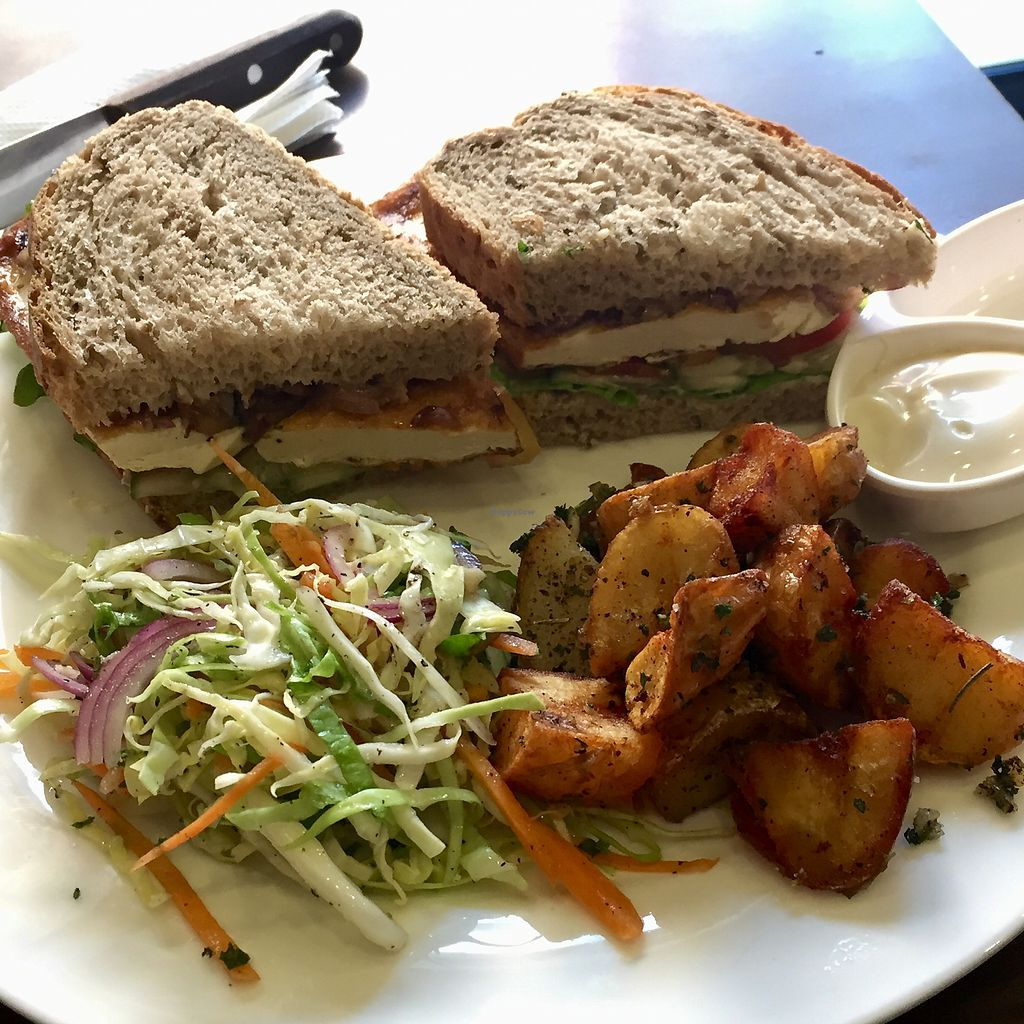 """Photo of French Bakery  by <a href=""""/members/profile/peterstuckings"""">peterstuckings</a> <br/>The awesome vegan Tofu Burger <br/> February 9, 2018  - <a href='/contact/abuse/image/91458/356709'>Report</a>"""