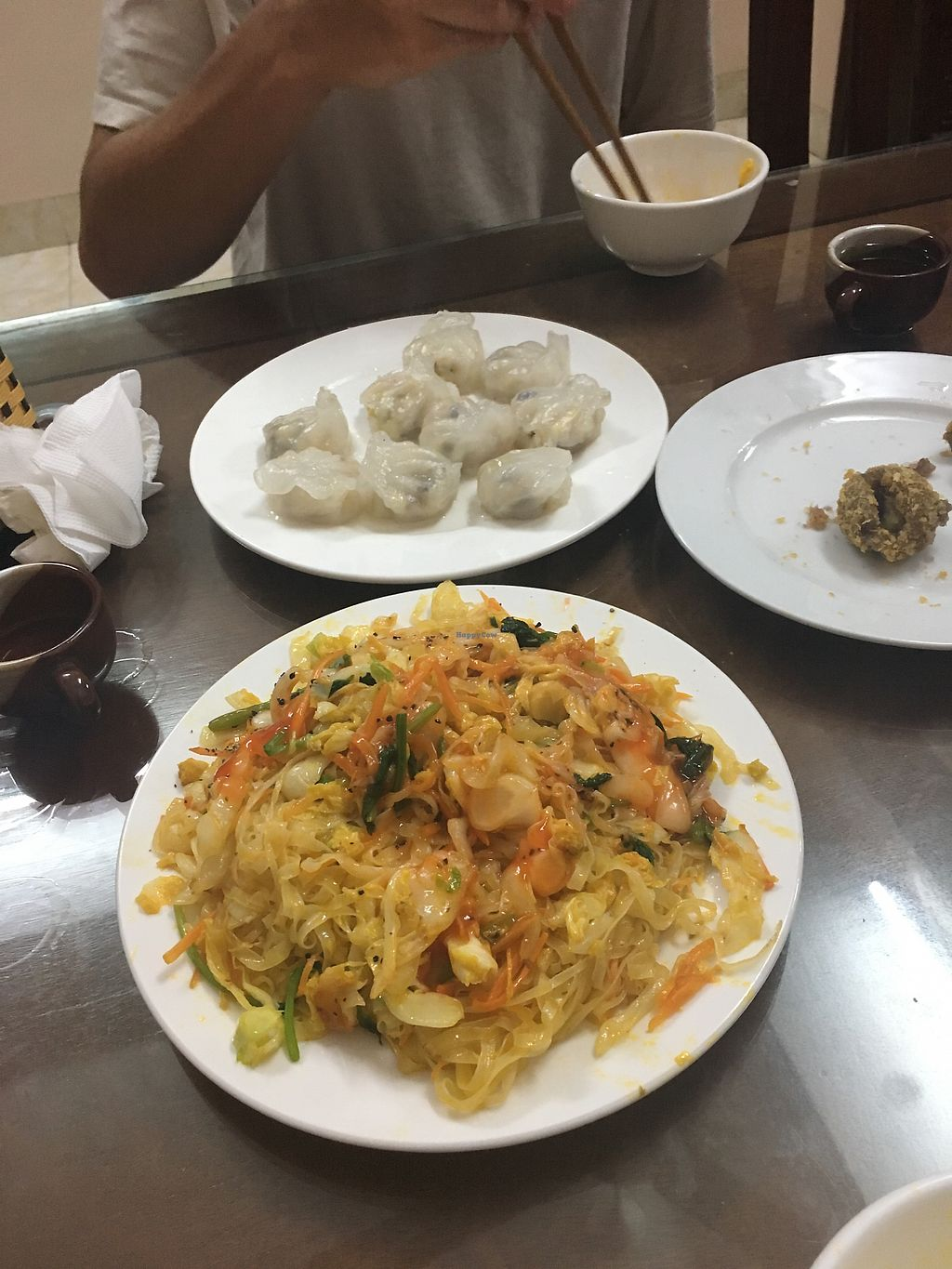 "Photo of Huong Sen  by <a href=""/members/profile/happybecca"">happybecca</a> <br/>Dumplings, fried noodles, the last sweet potato ball <br/> April 5, 2018  - <a href='/contact/abuse/image/91509/381181'>Report</a>"