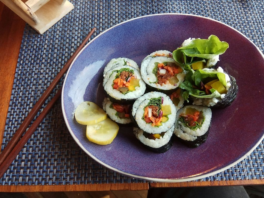 "Photo of VEGetarian Meal  by <a href=""/members/profile/Erdi"">Erdi</a> <br/>Kimbap <br/> July 21, 2017  - <a href='/contact/abuse/image/91518/282690'>Report</a>"