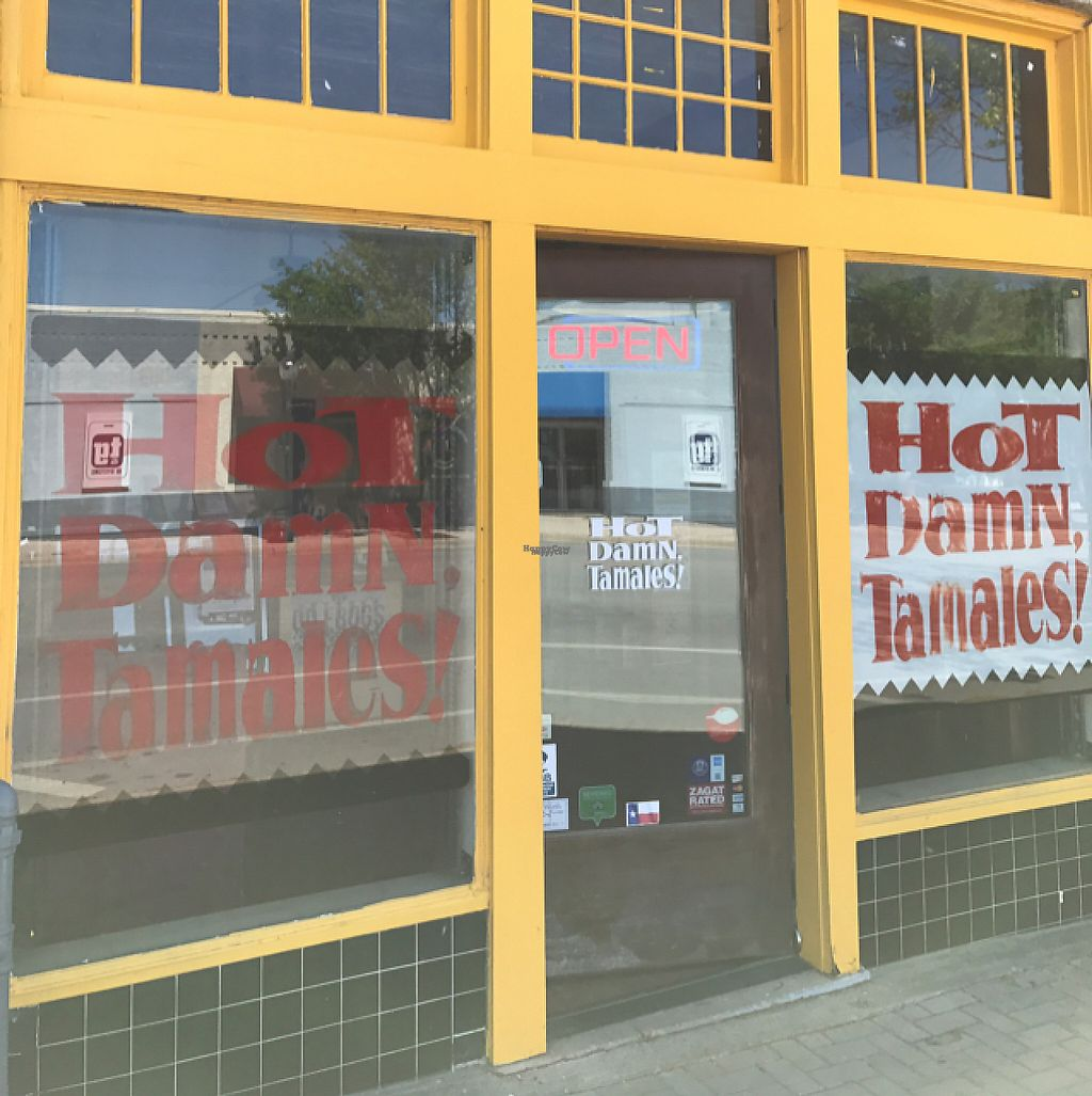 """Photo of Hot Damn Tamales  by <a href=""""/members/profile/ByronSobe"""">ByronSobe</a> <br/>out front  <br/> March 20, 2017  - <a href='/contact/abuse/image/9152/238879'>Report</a>"""
