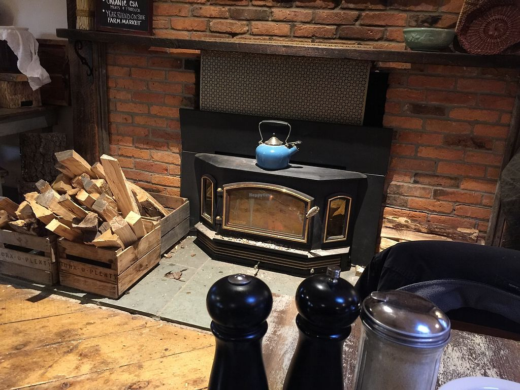 """Photo of Horn O Plenty  by <a href=""""/members/profile/noseriously"""">noseriously</a> <br/>The main dining area is heated by an old fashioned wood burning stove.  <br/> April 3, 2018  - <a href='/contact/abuse/image/91538/380348'>Report</a>"""