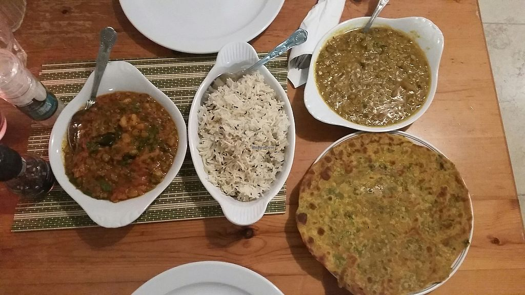 """Photo of Mangla's Spice of Life  by <a href=""""/members/profile/konlish"""">konlish</a> <br/>Delicious good Mixed Veg and moong dhall, rice and thepla roti <br/> November 11, 2017  - <a href='/contact/abuse/image/91540/324432'>Report</a>"""