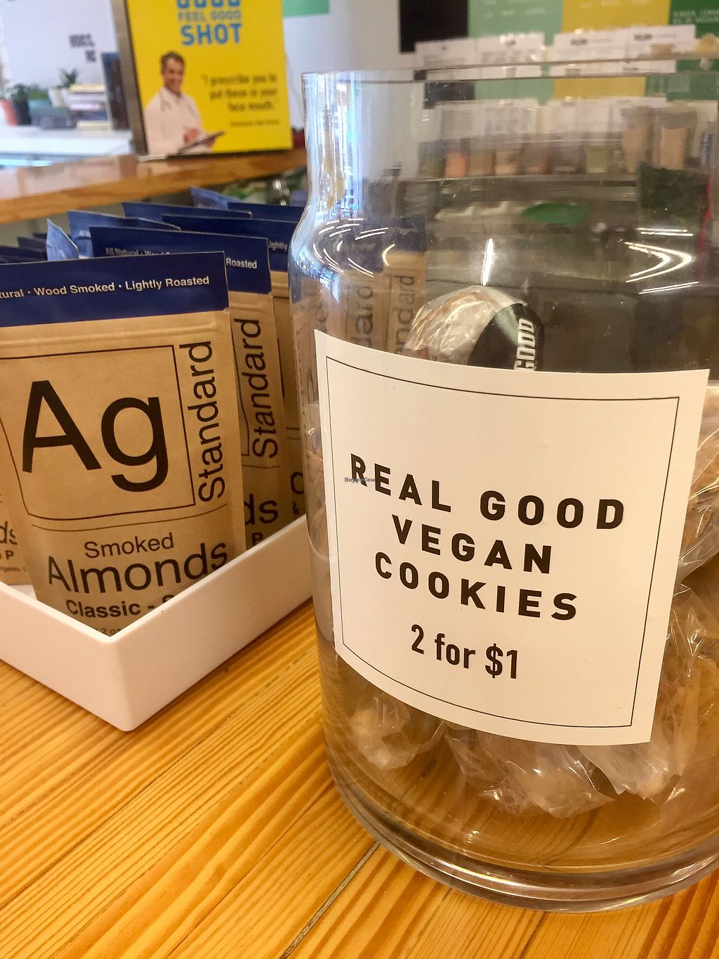 """Photo of Real Good Juice Co. - Wells  by <a href=""""/members/profile/happycowgirl"""">happycowgirl</a> <br/>Vegan treats! <br/> September 29, 2017  - <a href='/contact/abuse/image/91541/309918'>Report</a>"""