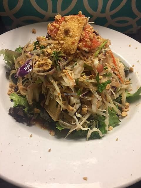 "Photo of CLOSED: Mylan Asian Eatery  by <a href=""/members/profile/wilsondyl"">wilsondyl</a> <br/>Vegan papaya salad! make sure to specify vegan <br/> June 19, 2017  - <a href='/contact/abuse/image/91546/271060'>Report</a>"