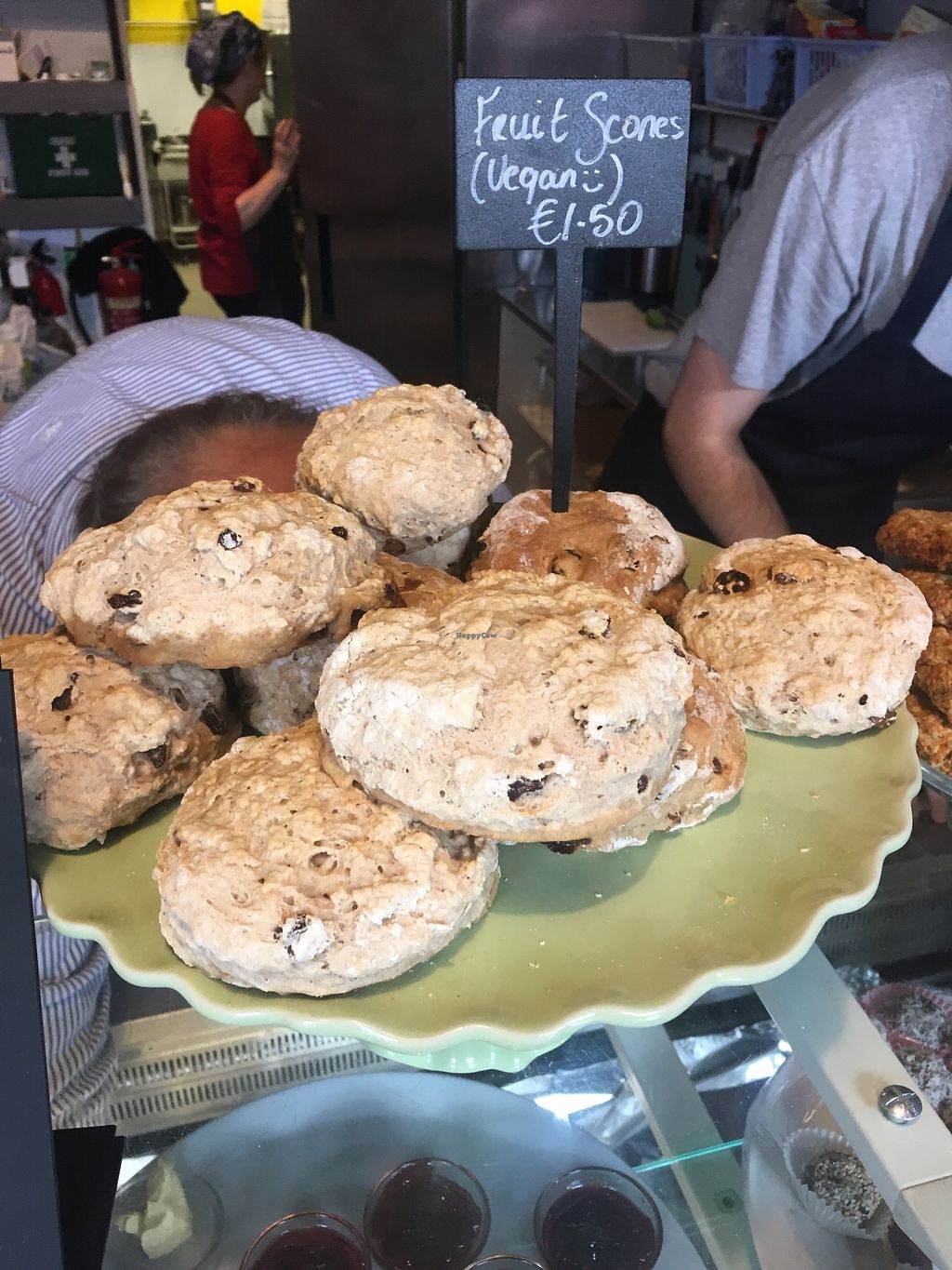 "Photo of The Old Fire Station  by <a href=""/members/profile/phashonkat"">phashonkat</a> <br/>Traditional but vegan scones <br/> July 24, 2017  - <a href='/contact/abuse/image/91570/284234'>Report</a>"