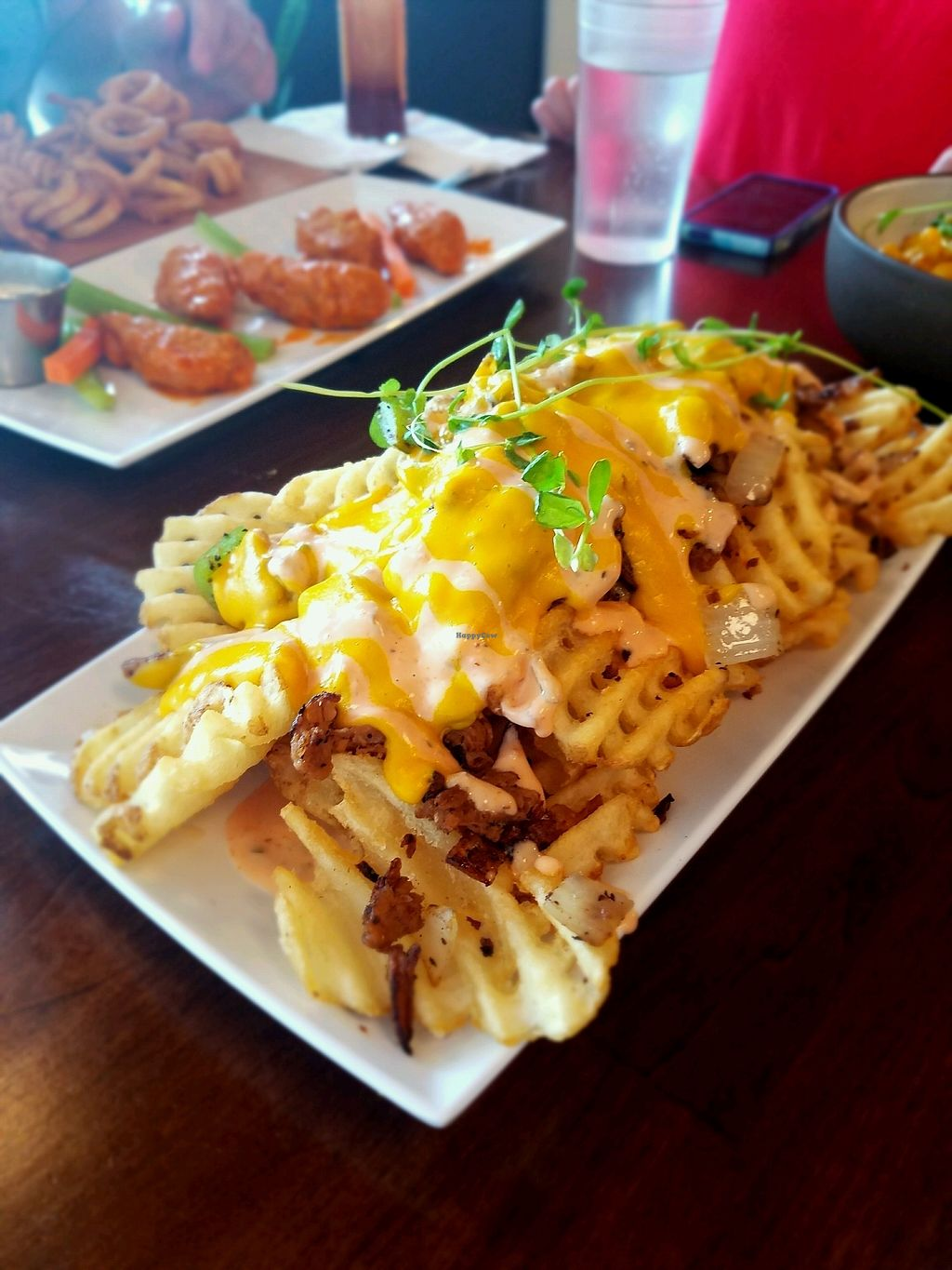 """Photo of Morels Cafe  by <a href=""""/members/profile/Silly%20Little%20Vegan"""">Silly Little Vegan</a> <br/>Philly cheese steak fries  <br/> August 24, 2017  - <a href='/contact/abuse/image/91572/296516'>Report</a>"""