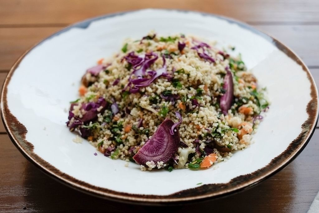 "Photo of Siete Semillas  by <a href=""/members/profile/SieteSemillas"">SieteSemillas</a> <br/>Vegan Tabule Salad with cus cus, carrots, purple carrot and pasrley <br/> May 4, 2017  - <a href='/contact/abuse/image/91576/255524'>Report</a>"