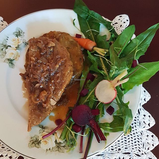 """Photo of Estomago Cafe Vegano  by <a href=""""/members/profile/julifraguas"""">julifraguas</a> <br/>Seitan <br/> July 27, 2017  - <a href='/contact/abuse/image/91581/285385'>Report</a>"""