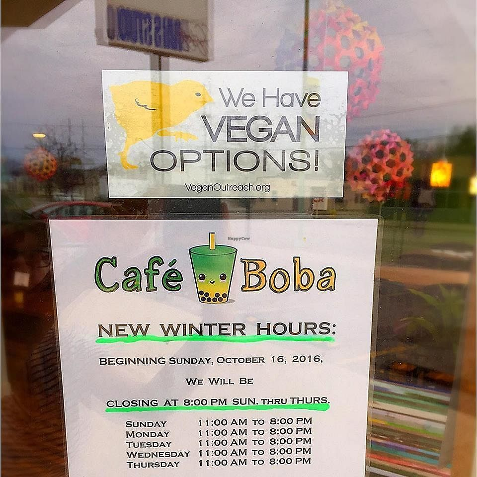 """Photo of Cafe Boba  by <a href=""""/members/profile/shellxvictoria"""">shellxvictoria</a> <br/>entrance window <br/> July 19, 2017  - <a href='/contact/abuse/image/91585/282245'>Report</a>"""