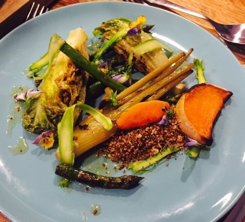 """Photo of The Curious Kitchen  by <a href=""""/members/profile/ChristianVegan"""">ChristianVegan</a> <br/>Asparagus, fennel, butternut squash <br/> May 4, 2017  - <a href='/contact/abuse/image/91593/255621'>Report</a>"""