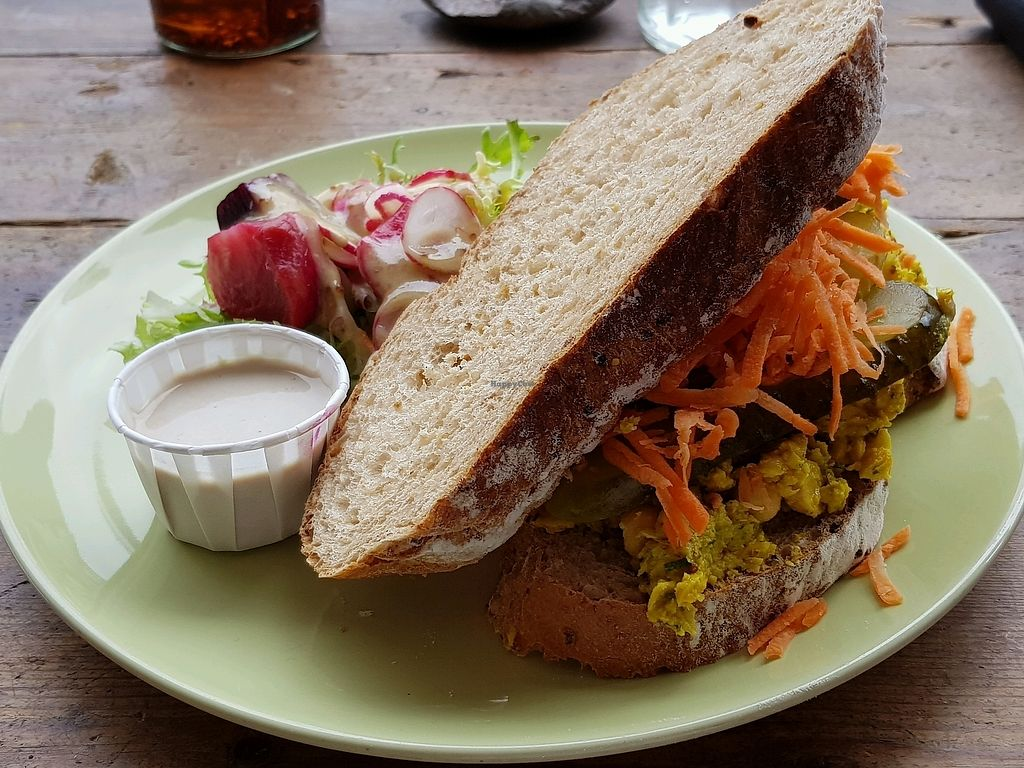 """Photo of The Curious Kitchen  by <a href=""""/members/profile/Chaizy"""">Chaizy</a> <br/>Smashed chickpea sandwich <br/> September 7, 2017  - <a href='/contact/abuse/image/91593/301704'>Report</a>"""