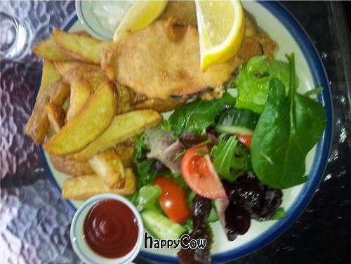 """Photo of CLOSED: Las Vegan Cafe  by <a href=""""/members/profile/eveliene99"""">eveliene99</a> <br/>Vegan fish and chips from Las Vegan!  <br/> September 24, 2012  - <a href='/contact/abuse/image/9159/38404'>Report</a>"""