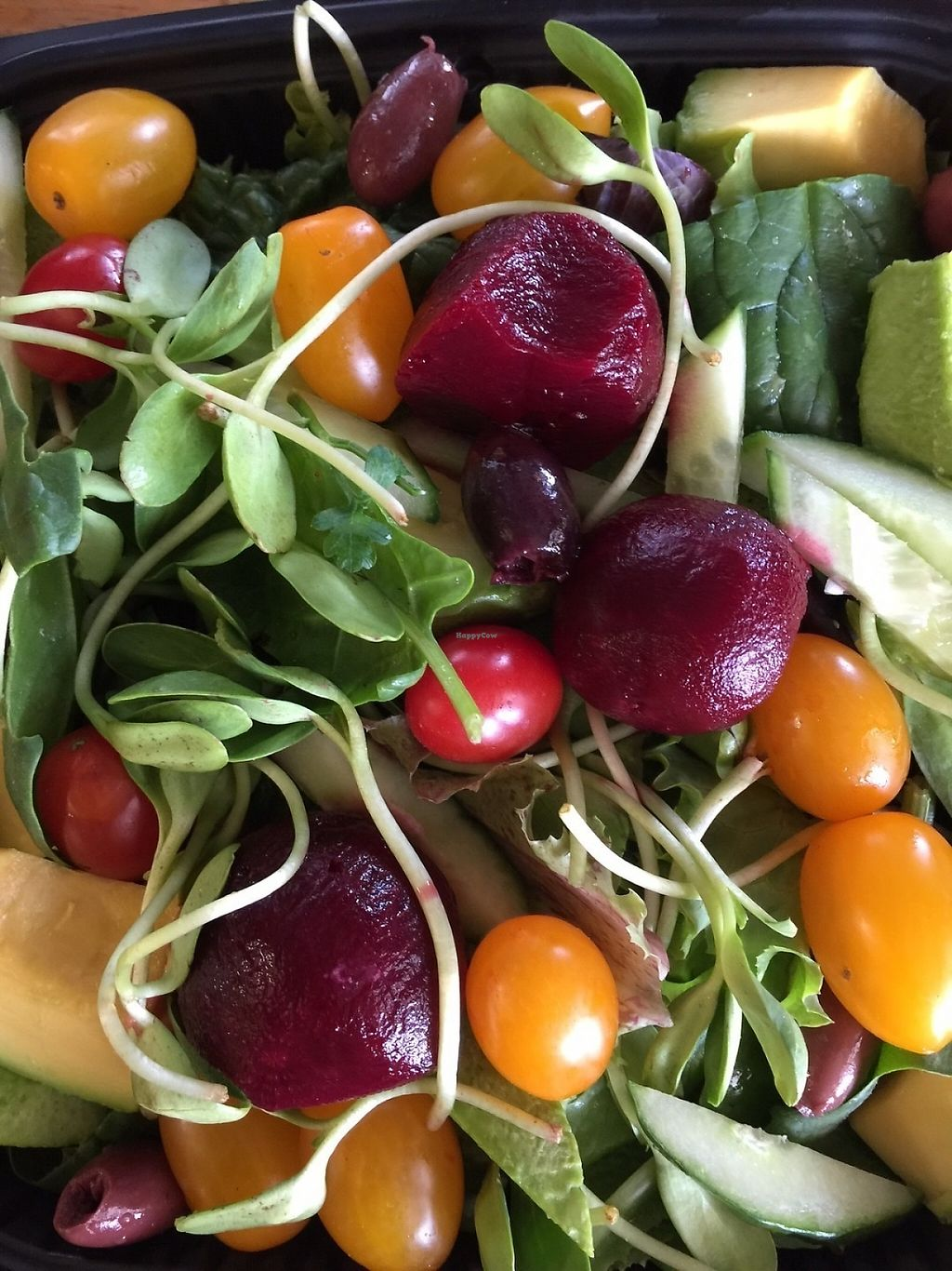 """Photo of Bambi's Country Farm Market  by <a href=""""/members/profile/itsawonderfulday"""">itsawonderfulday</a> <br/>Avocado & More Salad...Fresh Salad Greens, Avocado, Sunflower Sprouts, Baby Pickled Beets, Cucumber, Grape Tomatoes, Black Olives & more <br/> May 7, 2017  - <a href='/contact/abuse/image/91601/256565'>Report</a>"""