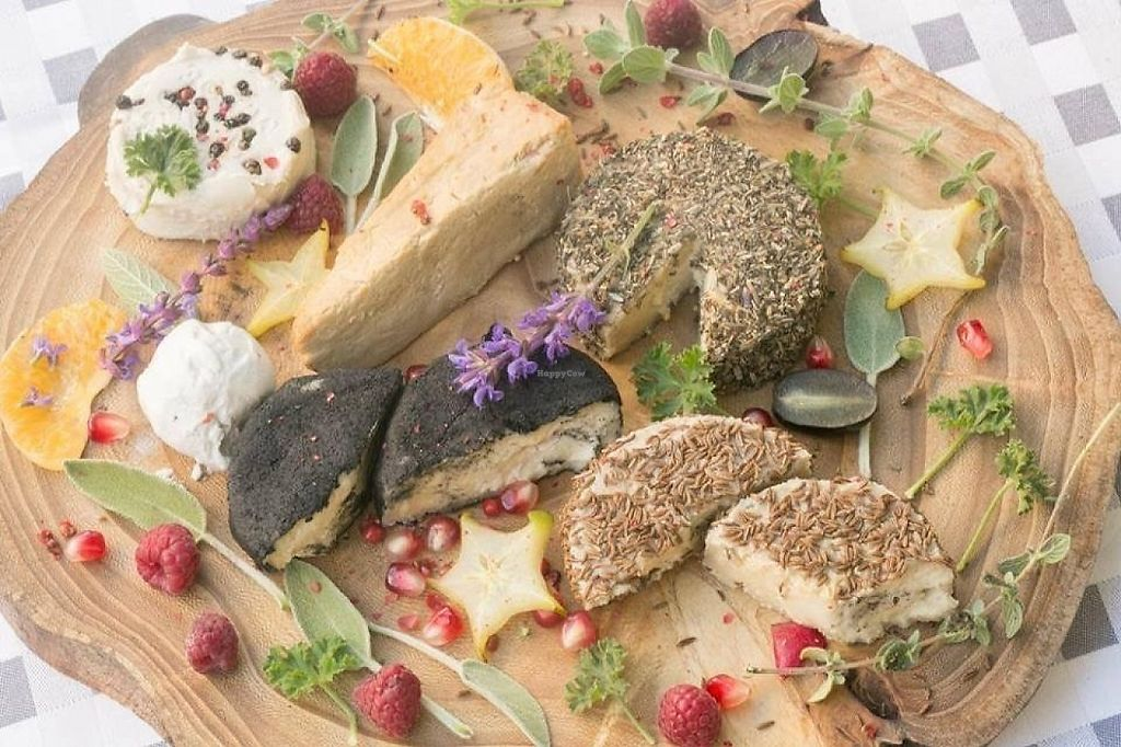"""Photo of Vegan Supplies  by <a href=""""/members/profile/community"""">community</a> <br/>vegan cheese plate via Julia <br/> May 6, 2017  - <a href='/contact/abuse/image/91607/256307'>Report</a>"""