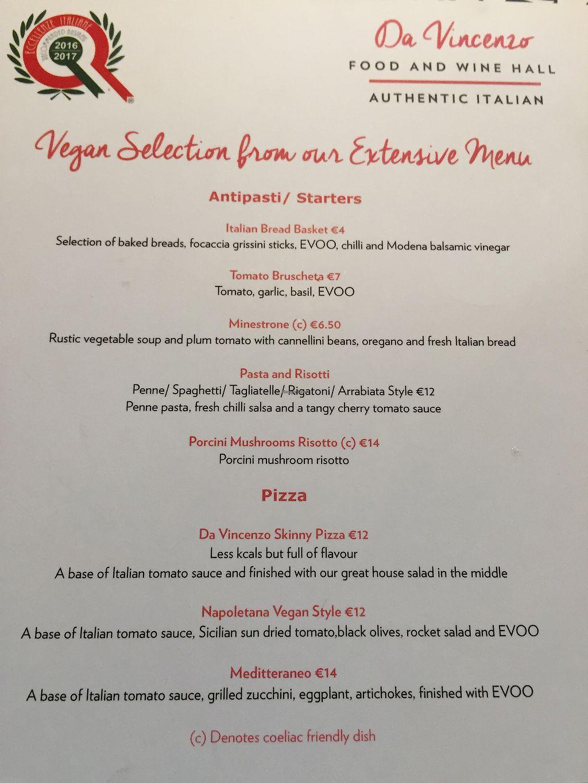 "Photo of Da Vincenzo Food and Wine Hall  by <a href=""/members/profile/Galispa"">Galispa</a> <br/>wonderful vegan menu  <br/> July 18, 2017  - <a href='/contact/abuse/image/91608/281927'>Report</a>"