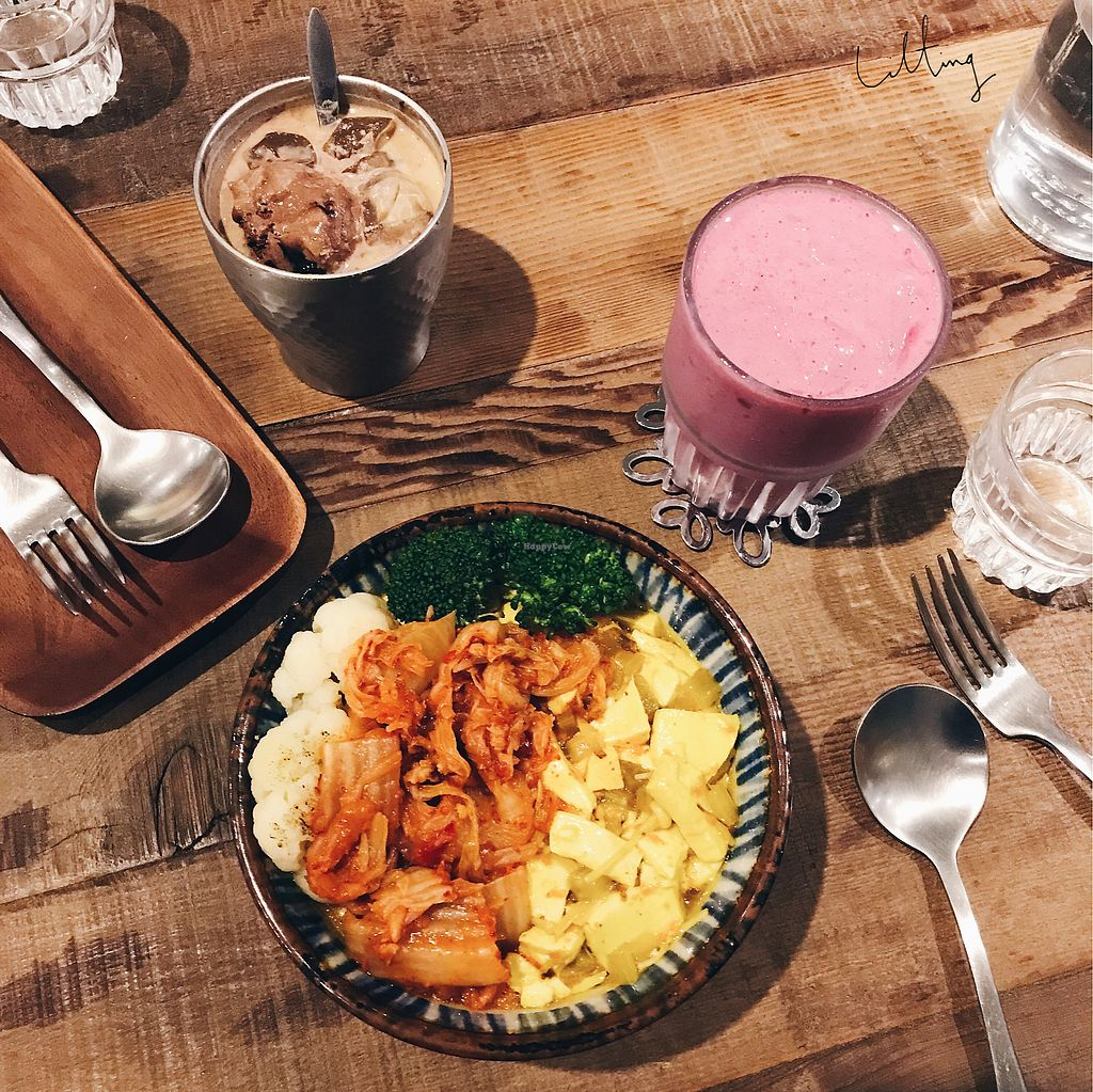 """Photo of Blossom Rena Vegan Cafe  by <a href=""""/members/profile/plantbased_glutard"""">plantbased_glutard</a> <br/>kimchi tofu don  <br/> August 3, 2017  - <a href='/contact/abuse/image/91621/288290'>Report</a>"""