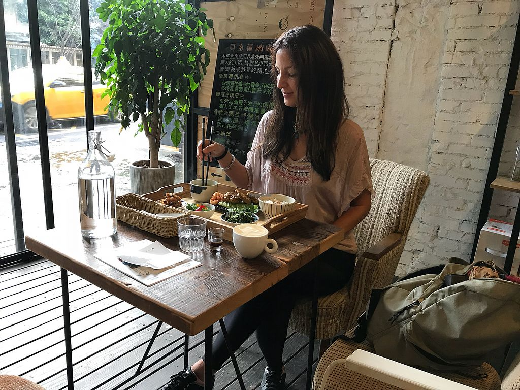 """Photo of Blossom Rena Vegan Cafe  by <a href=""""/members/profile/lachai"""">lachai</a> <br/>Me enjoying the food <br/> November 22, 2017  - <a href='/contact/abuse/image/91621/328157'>Report</a>"""
