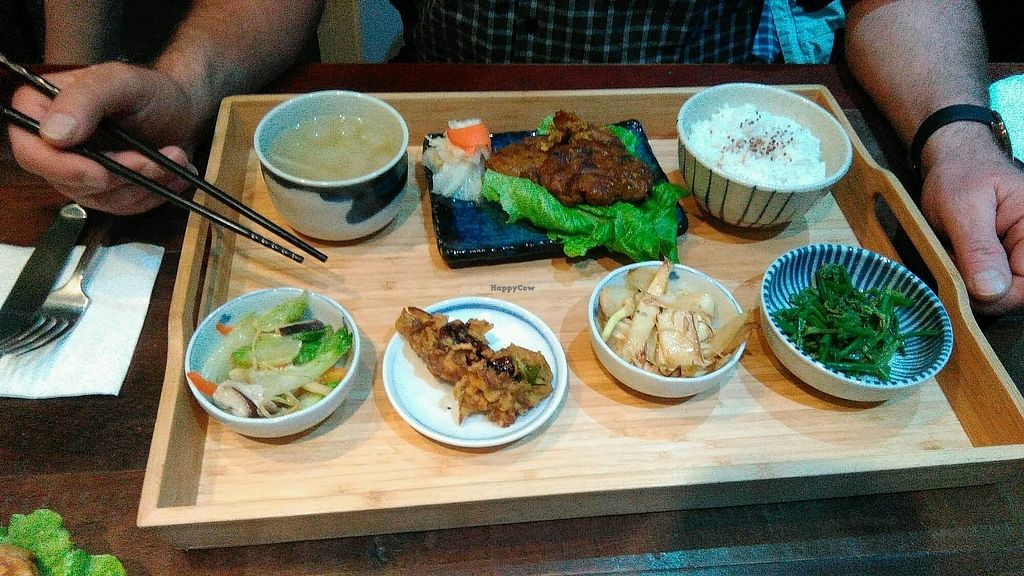 """Photo of Blossom Rena Vegan Cafe  by <a href=""""/members/profile/CarinaJ.Rother"""">CarinaJ.Rother</a> <br/>the curry stake set <br/> January 20, 2018  - <a href='/contact/abuse/image/91621/348918'>Report</a>"""