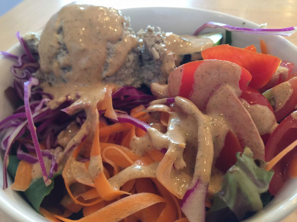 """Photo of Nourish Cafe - Nob Hill  by <a href=""""/members/profile/szcondon1"""">szcondon1</a> <br/>small nourish salad with """"tuna"""" added.  <br/> June 7, 2017  - <a href='/contact/abuse/image/91641/266536'>Report</a>"""