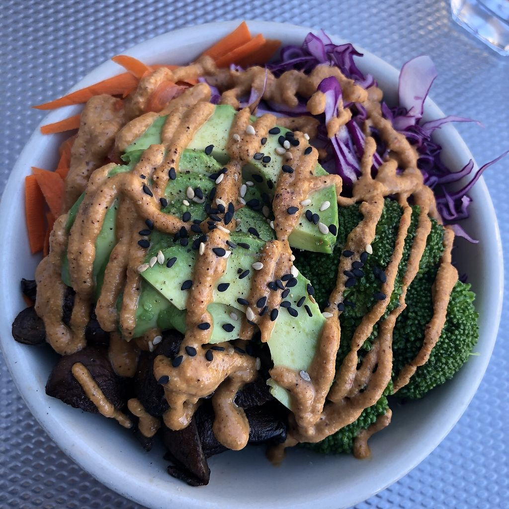 """Photo of Nourish Cafe - Nob Hill  by <a href=""""/members/profile/mcsnv"""">mcsnv</a> <br/>Savory Morning Bowl <br/> October 3, 2017  - <a href='/contact/abuse/image/91641/311258'>Report</a>"""