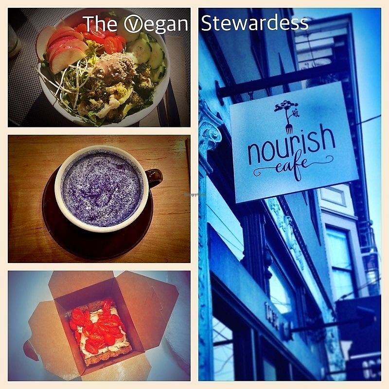 """Photo of Nourish Cafe - Nob Hill  by <a href=""""/members/profile/VeganStewardess"""">VeganStewardess</a> <br/>Great find <br/> February 13, 2018  - <a href='/contact/abuse/image/91641/358769'>Report</a>"""