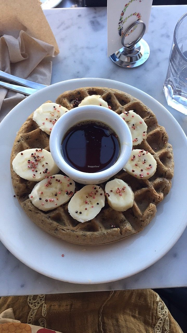 "Photo of Nourish Cafe - Nob Hill  by <a href=""/members/profile/karczoszka"">karczoszka</a> <br/>Quinoa Waffle <br/> April 22, 2018  - <a href='/contact/abuse/image/91641/389216'>Report</a>"
