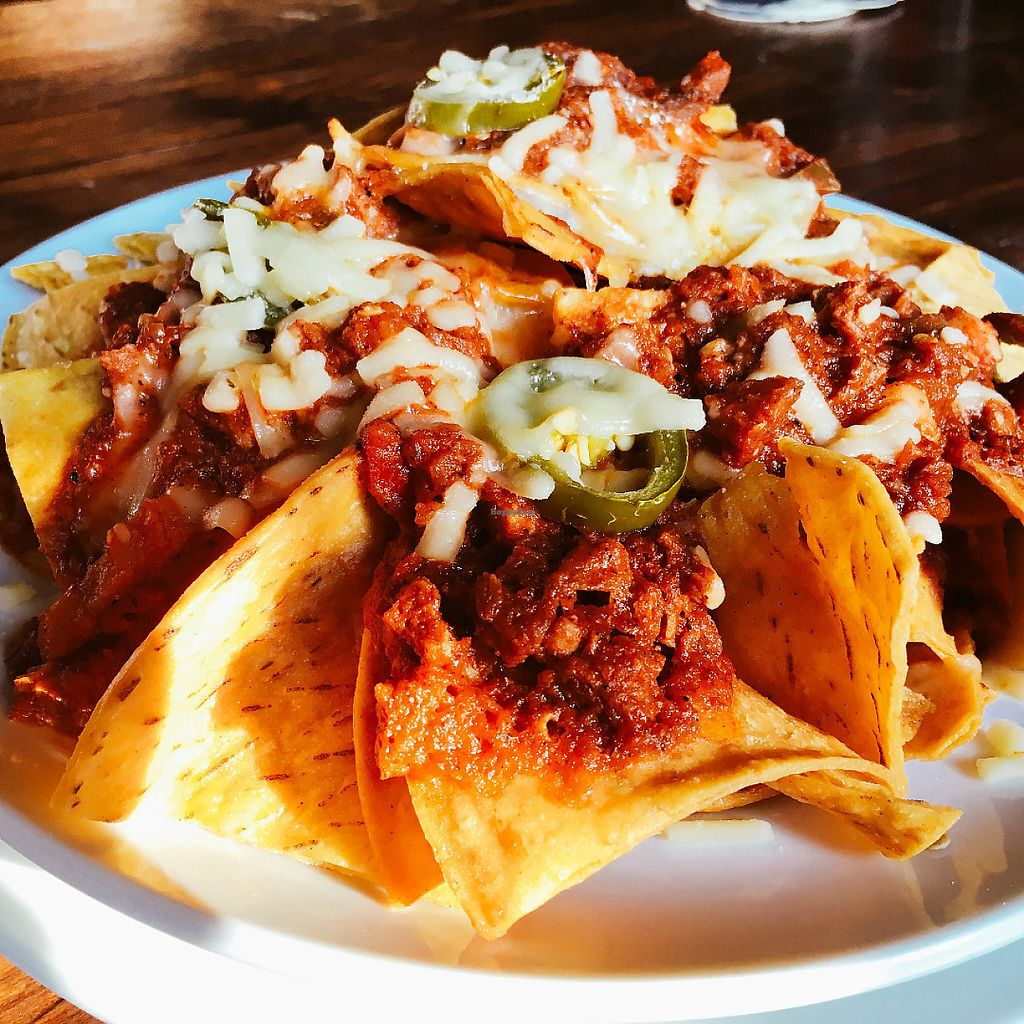 """Photo of Hobgoblin - Roppongi  by <a href=""""/members/profile/Injapan"""">Injapan</a> <br/>Vegan Soy Chili Nachos <br/> May 7, 2017  - <a href='/contact/abuse/image/91643/256997'>Report</a>"""