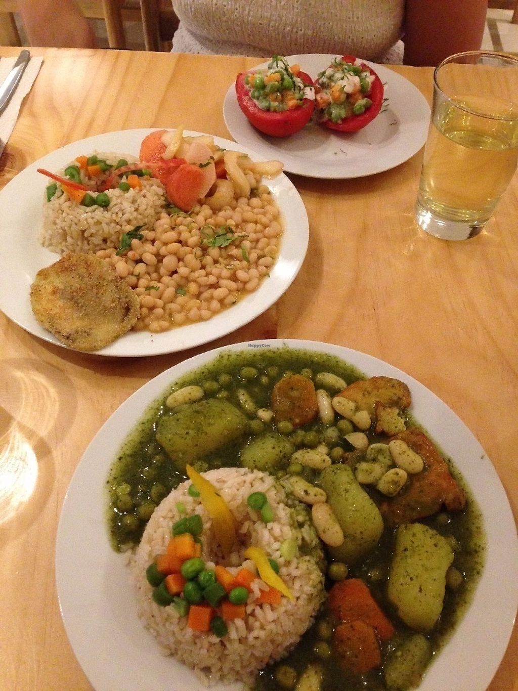 """Photo of Abdiel Vegan  by <a href=""""/members/profile/CamiloDolorier"""">CamiloDolorier</a> <br/>two plates off the nine soles lunch menu, with one appetizer (soup came with the other plate and was a huge portion, almost enough for two people) <br/> May 5, 2017  - <a href='/contact/abuse/image/91668/255923'>Report</a>"""