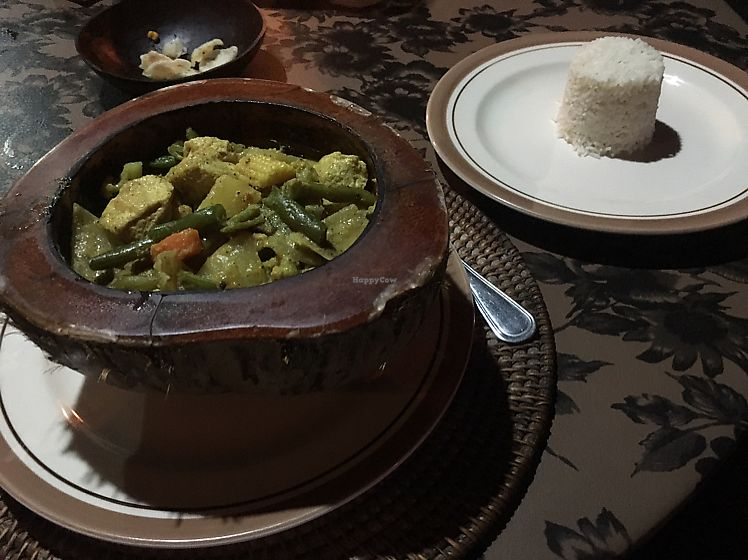 """Photo of Amarta Beach Cottage  by <a href=""""/members/profile/LloydNewton"""">LloydNewton</a> <br/>Tofu Curry and rice <br/> June 20, 2017  - <a href='/contact/abuse/image/91693/271312'>Report</a>"""