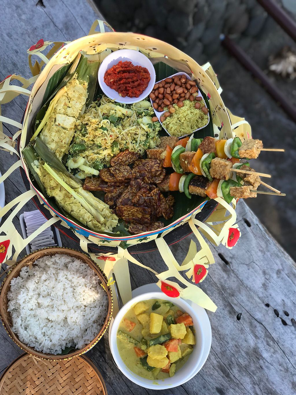 """Photo of Amarta Beach Cottage  by <a href=""""/members/profile/joooaaaann"""">joooaaaann</a> <br/>Vegan fest for two (incl. soup and dessert), 250k RP <br/> April 19, 2018  - <a href='/contact/abuse/image/91693/387875'>Report</a>"""