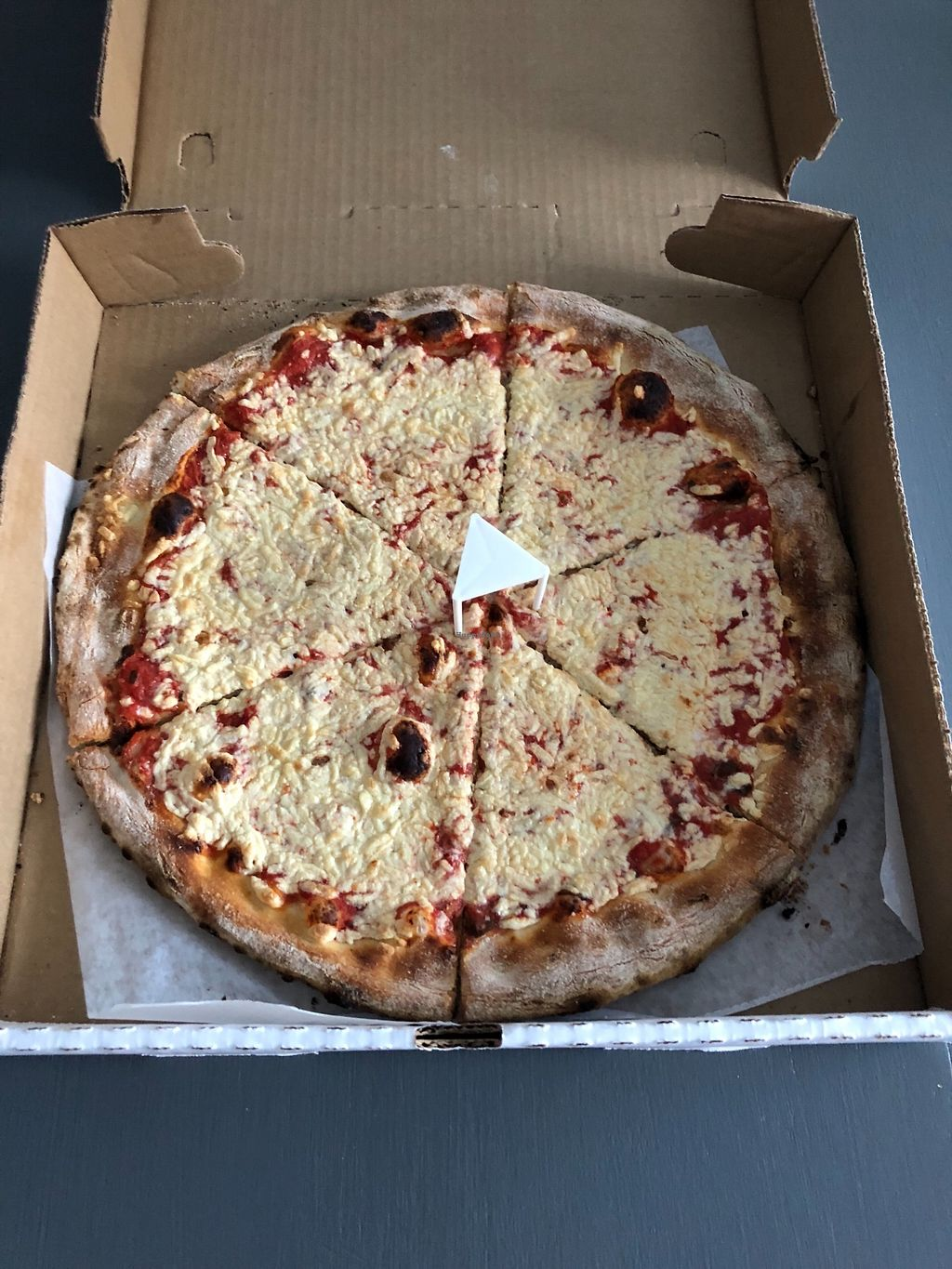 """Photo of Twisted Elm  by <a href=""""/members/profile/SaraSabo"""">SaraSabo</a> <br/>Margarita pizza with vegan cheese <br/> March 19, 2018  - <a href='/contact/abuse/image/91705/372719'>Report</a>"""